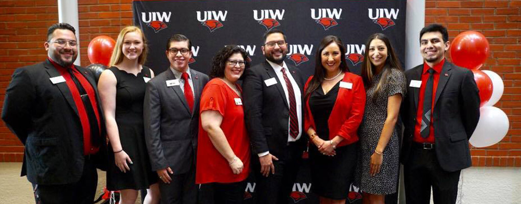 The UIW Admissions team poses for a photo at UIW freshman orientation