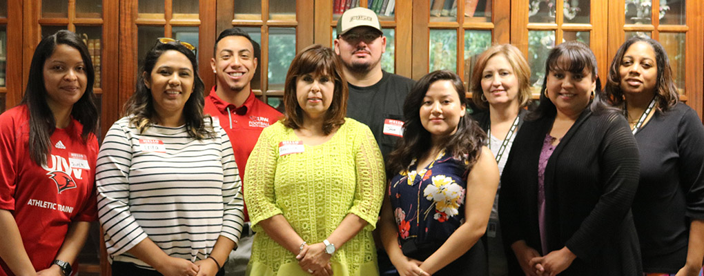 New UIW employees gather for a photo at the New Employee Mixer and Luncheon